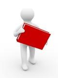 背景书拿着人空白 免版税库存图片