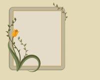 花卉框架面板文本 免版税库存图片