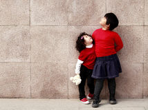亚裔女孩一点室外二 库存照片