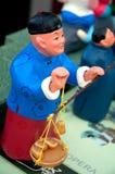 男孩雕塑 免版税库存照片
