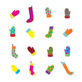 手套集合袜子 图库摄影