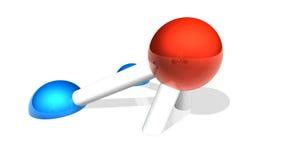 плавя молекула модуля Стоковое Изображение RF