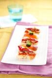 食物西班牙塔帕纤维布 免版税库存图片