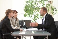 忠告企业销售人员 库存照片