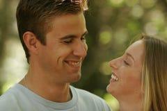 新夫妇的纵向 免版税库存图片
