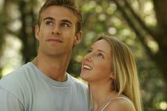 新夫妇的纵向 免版税库存照片