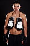 拳击手讲西班牙语的美国人 免版税库存照片