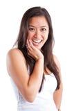亚裔美丽的愉快的妇女 图库摄影