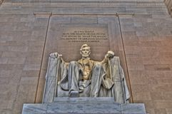 林肯纪念碑 库存照片