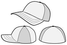棒球帽帽子模板向量 免版税图库摄影