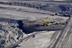褐色转换开放的煤矿开采 库存图片