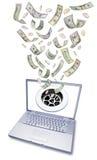 计算机流失消耗大的货币技术 库存图片