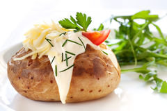 被烘烤的土豆沙拉 免版税图库摄影