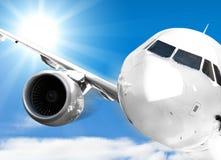 飞机天空 免版税图库摄影