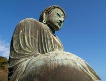 菩萨极大的镰仓雕象 免版税图库摄影