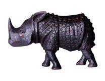 ρινόκερος ξύλινος Στοκ Εικόνες