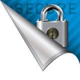 壁角图标安全选项 库存照片