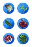 εικονίδια χορτοφάγα Στοκ εικόνα με δικαίωμα ελεύθερης χρήσης