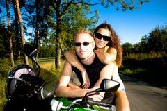 乘坐摩托车 库存图片