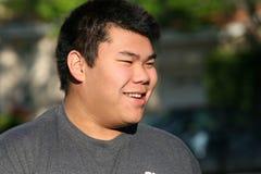 亚裔少年 免版税图库摄影