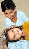 穷的女孩 免版税图库摄影