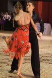 比赛开放舞蹈的拉丁 免版税库存图片