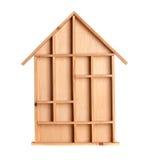 房子符号木 免版税库存图片