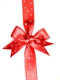 弓红色丝带 免版税库存照片