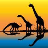 侏罗纪的黎明 免版税库存图片