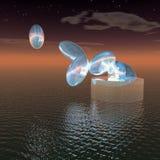 голубой космос яичек Стоковое фото RF