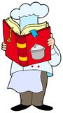 书主厨烹调法读取 库存照片
