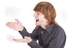 смеясь над человек Стоковая Фотография RF