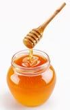 充分的蜂蜜罐 免版税库存图片