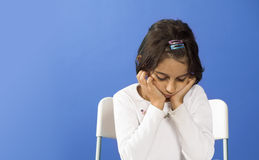 κορίτσι λίγα λυπημένα Στοκ Εικόνες