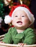 婴孩圣诞节圣诞老人 库存图片
