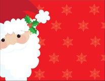 框架圣诞老人 库存照片