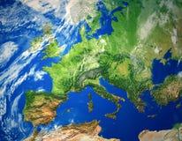 карта европы Стоковое Изображение RF