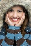 青少年的冬天 免版税库存图片