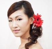 亚裔新娘 免版税库存图片