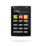 移动电话屏幕接触 图库摄影