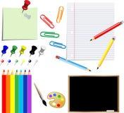 σχολικές προμήθειες Στοκ εικόνες με δικαίωμα ελεύθερης χρήσης