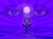 思考的信奉瑜伽者 库存图片