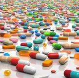 εν αφθονία χάπια Στοκ εικόνα με δικαίωμα ελεύθερης χρήσης