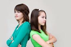 πίσω όμορφα κορίτσια Στοκ Εικόνες