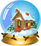 球圣诞节雪 图库摄影