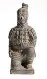 背景空白赤土陶器的战士 免版税库存照片