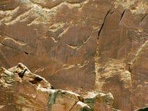 美国当地刻在岩石上的文字 免版税库存图片
