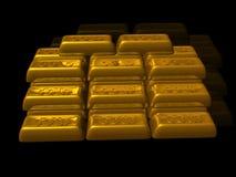 ράβδοι χρυσές Στοκ Εικόνα