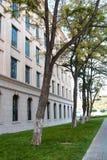 沿大厦的胡同 免版税图库摄影