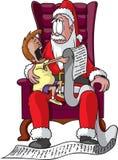 购物中心圣诞老人 免版税库存照片